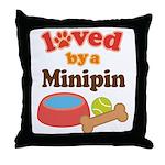 Minipin Dog Gift Throw Pillow