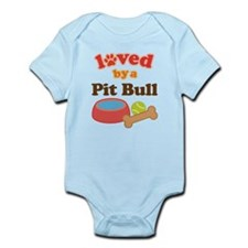 Pit Bull Dog Gift Infant Bodysuit