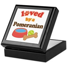 Pomeranian Dog Gift Keepsake Box