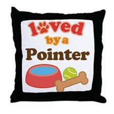 Pointer Dog Gift Throw Pillow
