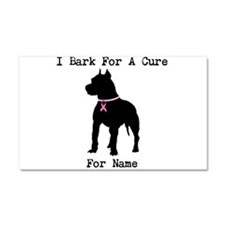 Pitbull Personalizable I Bark For A Cure Car Magne