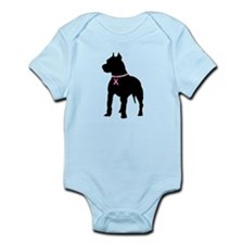 Pitbull Terrier Breast Cancer Support Infant Bodys
