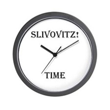 Slivovitz Time Wall Clock