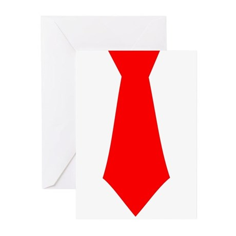 Red Tie.png Greeting Cards (Pk of 20)