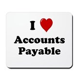 I Love Accounts Payable Mousepad