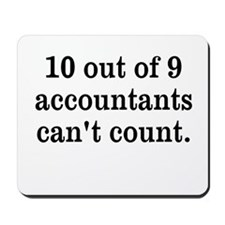 Accountant Joke Mousepad