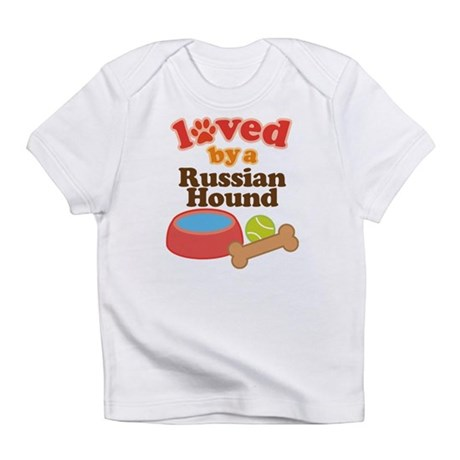 Russian Hound Dog Gift Infant T-Shirt