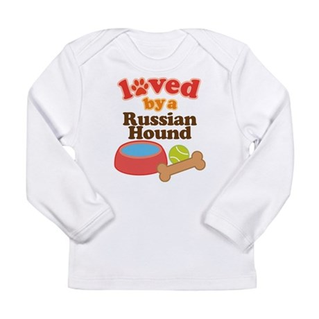 Russian Hound Dog Gift Long Sleeve Infant T-Shirt