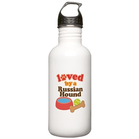 Russian Hound Dog Gift Stainless Water Bottle 1.0L