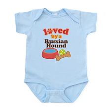 Russian Hound Dog Gift Infant Bodysuit