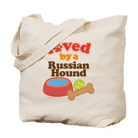 Russian Hound Dog Gift Tote Bag