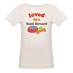 Saint Bernard Dog Gift Organic Baby T-Shirt