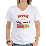 Saint Bernard Dog Gift Women's V-Neck T-Shirt