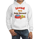 Saint Bernard Dog Gift Hooded Sweatshirt