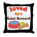 Saint Bernard Dog Gift Throw Pillow