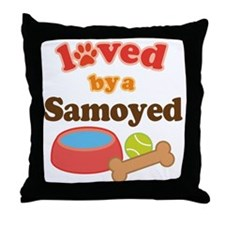 Samoyed Dog Gift Throw Pillow