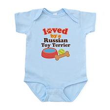 Russian Toy Terrier Dog Gift Infant Bodysuit