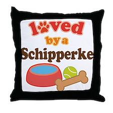 Schipperke Dog Gift Throw Pillow