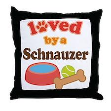 Schnauzer Dog Gift Throw Pillow