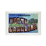 Charlotte North Carolina Greetings Rectangle Magne