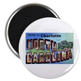 Charlotte North Carolina Greetings Magnet