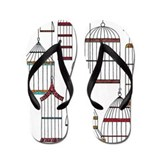 Retro Bird Cages Flip Flops Flip Flops