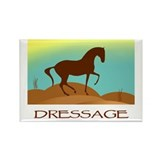 desert dressage w/ text Rectangle Magnet (10 pack)