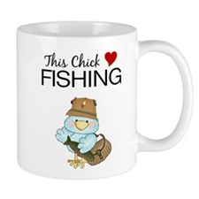 This Chick Loves Fishing Mug