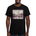 compton copy.jpg Men's Fitted T-Shirt (dark)