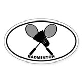 Badminton Oval Decal
