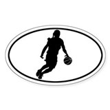 Basketball - Girl Oval Decal