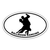 Ballroom Dancing Oval Decal