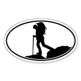 Hiker - Silo Oval Decal