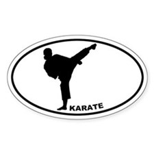 Karate - Woman Oval Decal