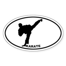 Karate - Man Oval Decal
