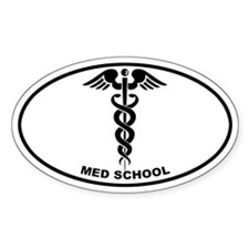 Med School - Cadeuceus Oval Decal
