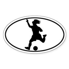 Soccer - Girl Oval Decal