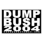 Dump Bush 2004 Bike Sticker (5x3)