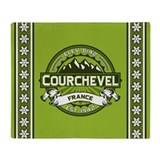 Courchevel Green Throw Blanket