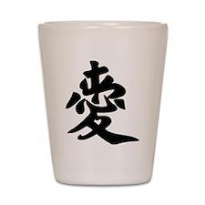 Love Chinese Character Love Shot Glass