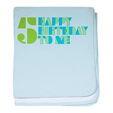 Happy Birthday 5 baby blanket