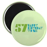 Happy Birthday 57 2.25&quot; Magnet (10 pack)