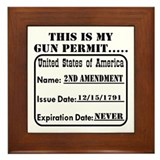 This Is My Gun Permit Framed Tile