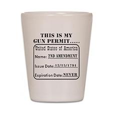 This Is My Gun Permit Shot Glass