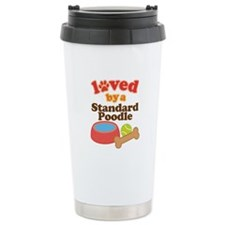 Standard Poodle Dog Gift Ceramic Travel Mug