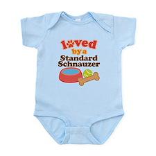 Standard Schnauzer Dog Gift Infant Bodysuit