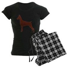 Red Doberman Silhouette Pajamas