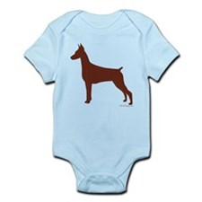 Red Doberman Silhouette Onesie