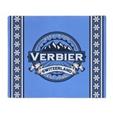 Verbier Blue Throw Blanket