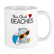 This Chick Loves Beaches Mug